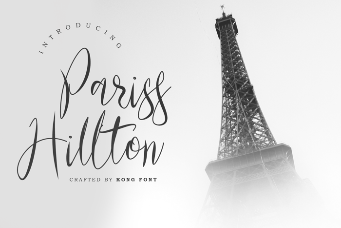 Pariss Hillton Font poster