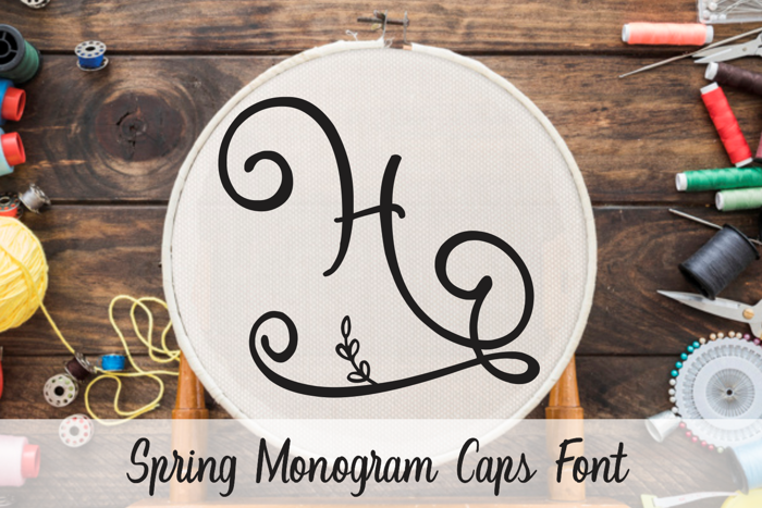 Spring Monogram Font poster