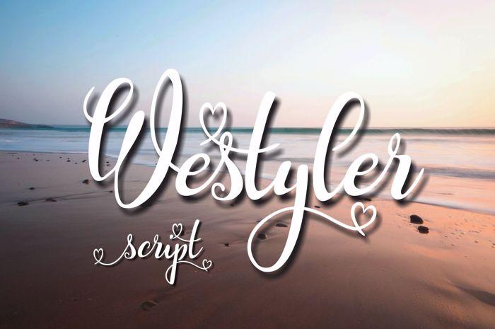 Westyler Font poster