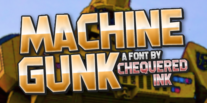 Machine Gunk Font poster