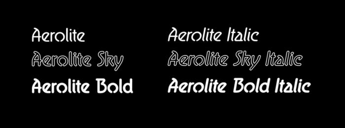 Aerolite Font poster