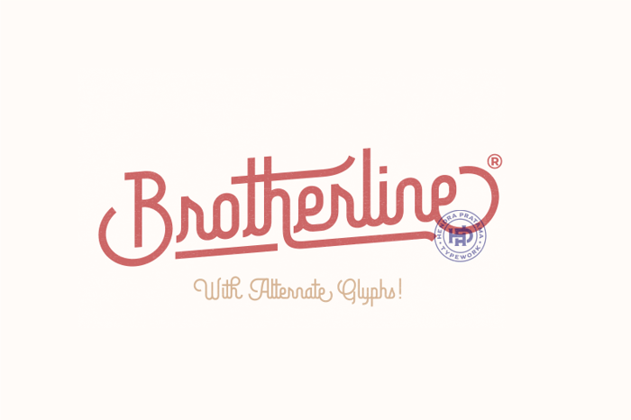 Brotherline Font poster