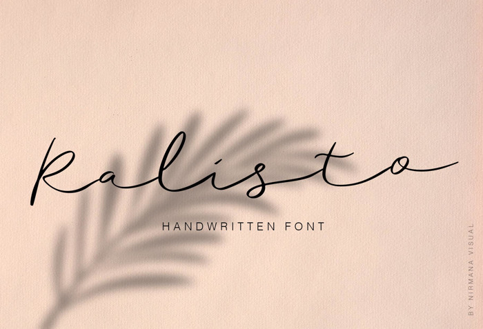 Ralisto Font poster
