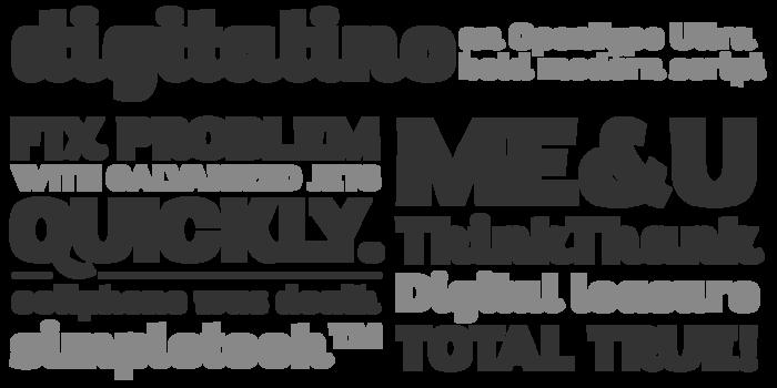 Digitalino Font poster