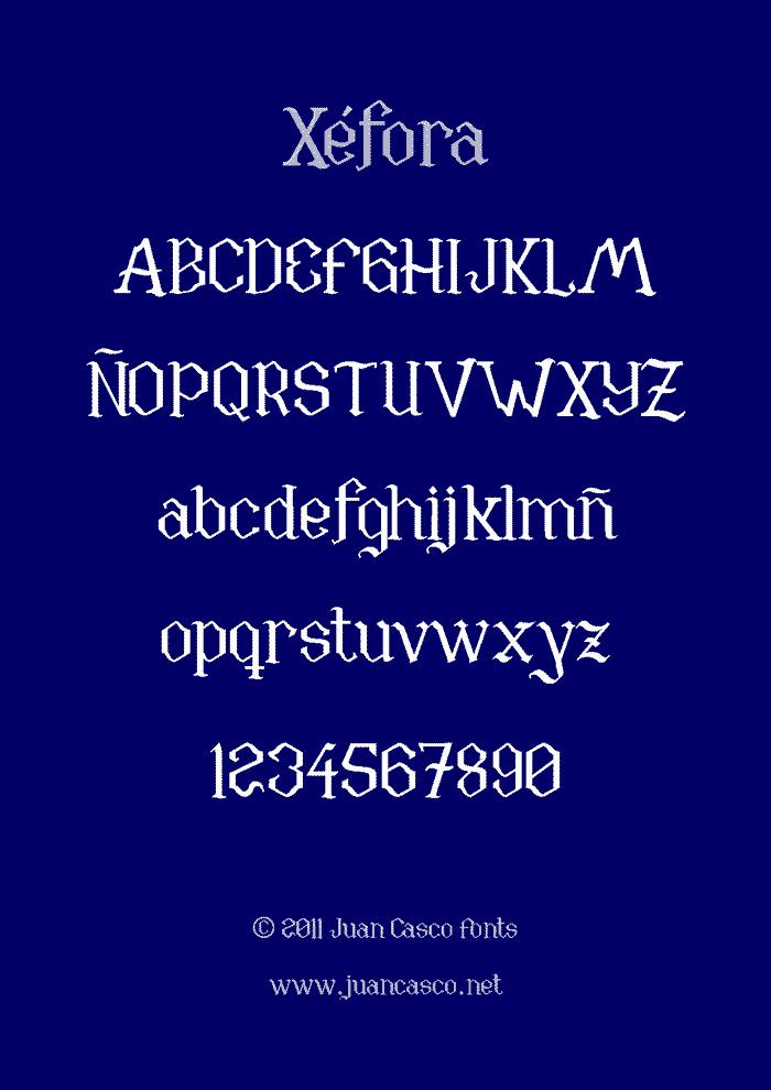 Xéfora Font poster