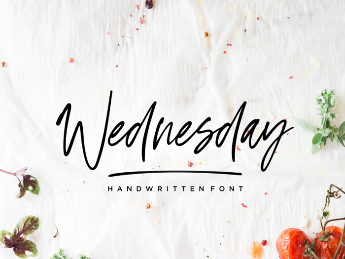 Wednesday Vibes Font poster