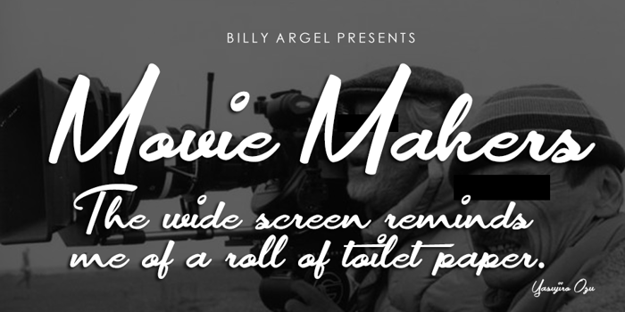 Movie Makers Font poster