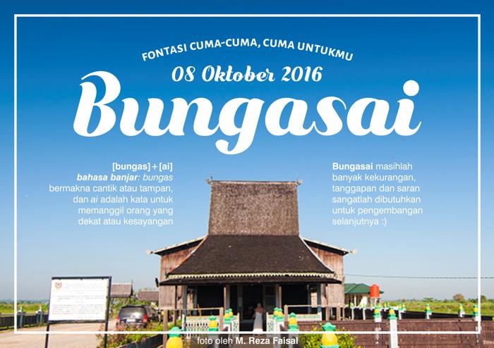 Bungasai Font poster
