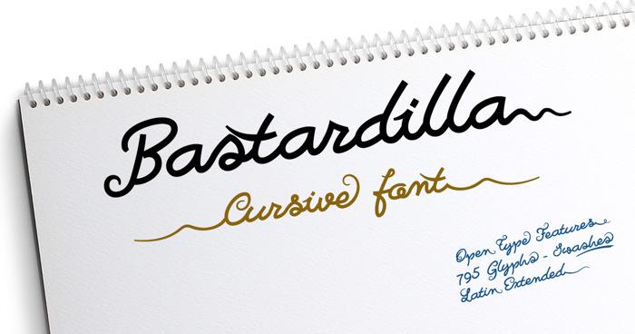 Bastardilla Font poster