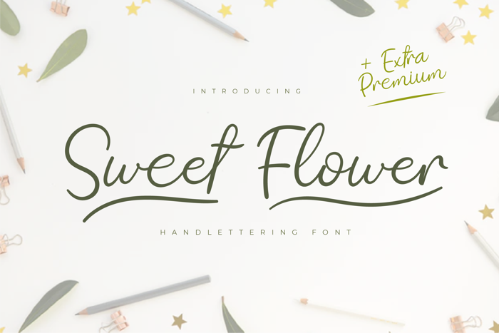 Sweet Flower Font poster