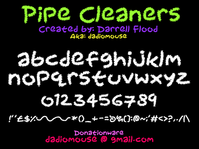 Pipecleaners Font poster