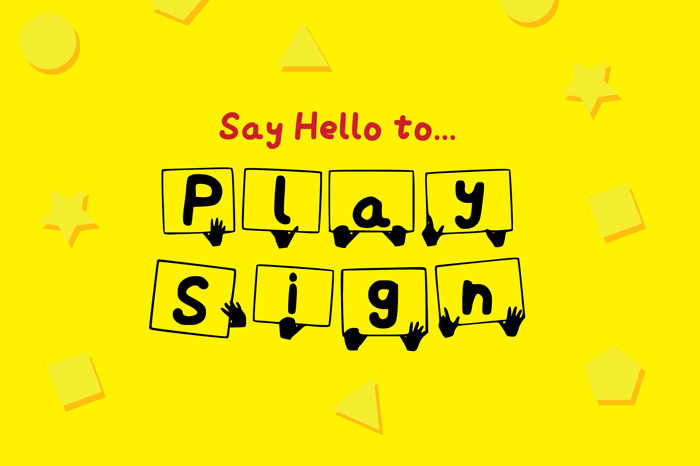 Play Sign Font poster