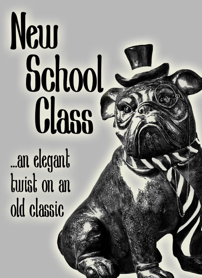 New School Class Med Font poster