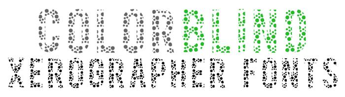 ColorBlind Font poster