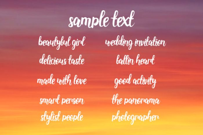 Stainella Script Font poster