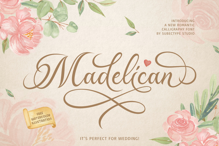 Madelican Font poster
