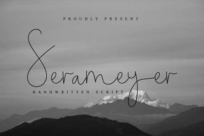 Serameyer Font poster