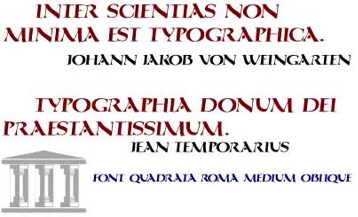 QuadrataRoma Font poster
