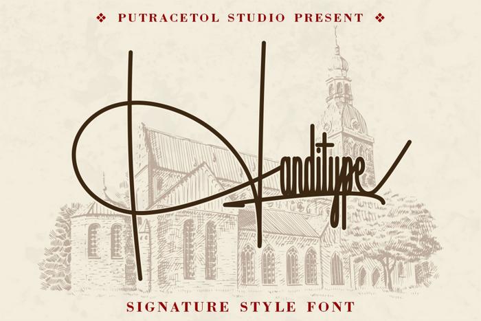 Handitype Font poster