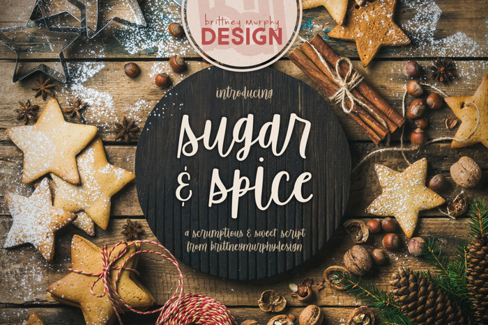 Sugar & Spice Font poster