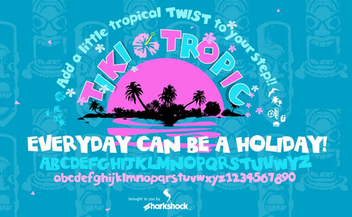 Tiki Tropic Font poster