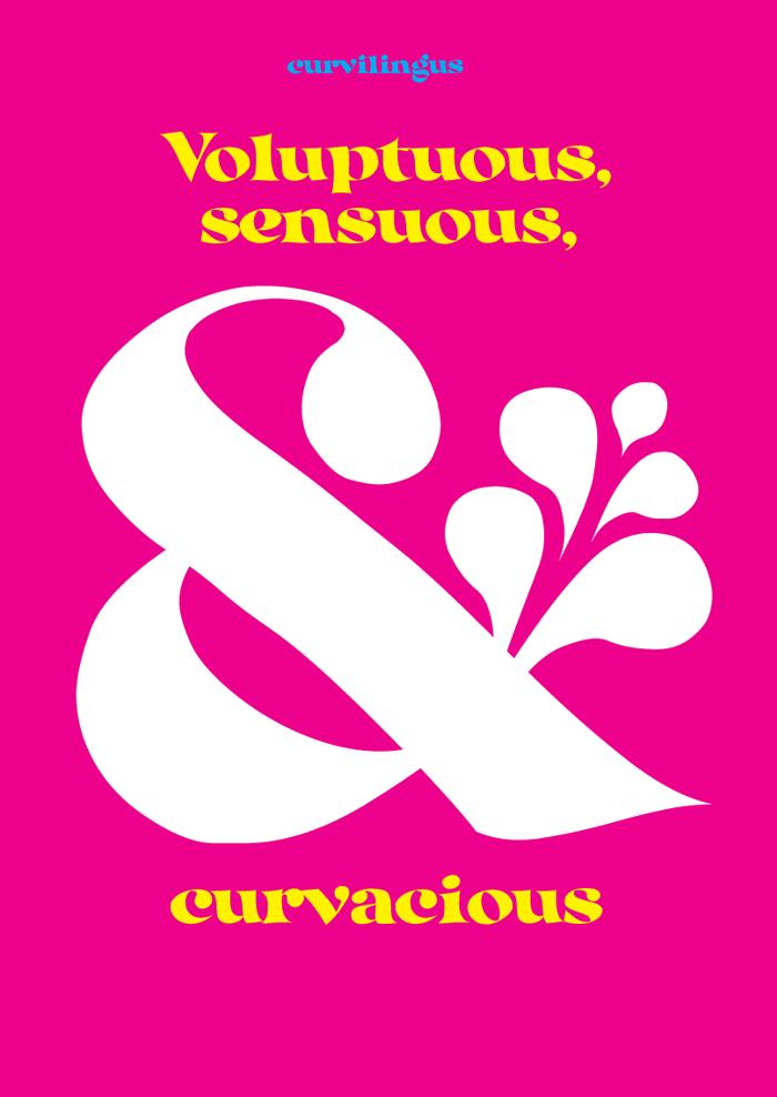Curvilingus Font poster