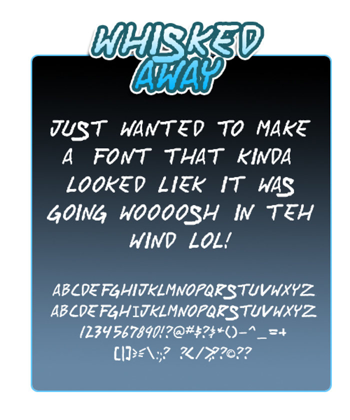 Whisked Away Font poster