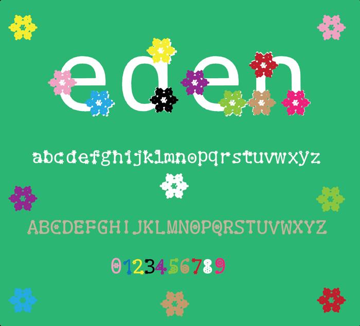 eden Font poster