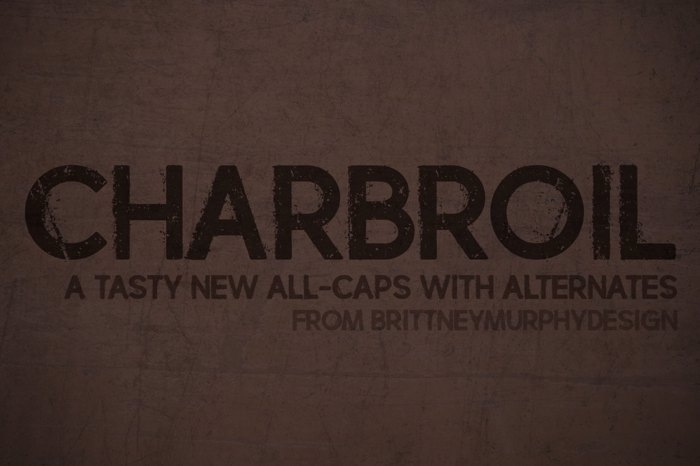 charbroil Font poster