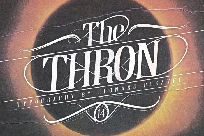 Thron Demo Font poster
