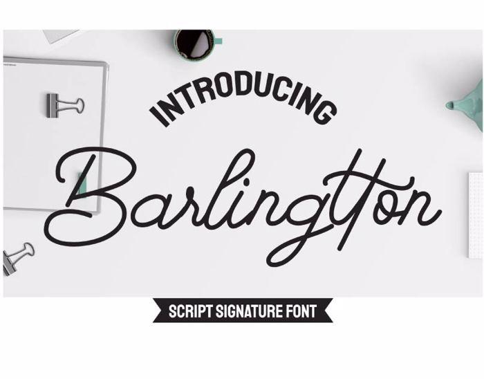 Barlingtton Font poster
