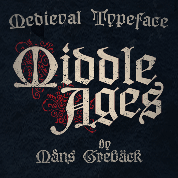 Middle Ages Font poster