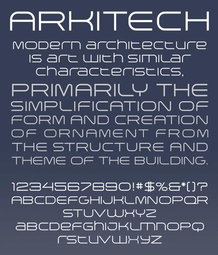 Arkitech Font poster
