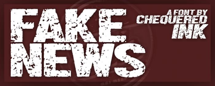 Fake News Font poster