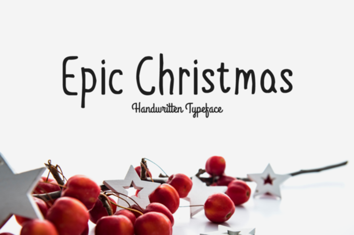 Epic Christmas Font poster