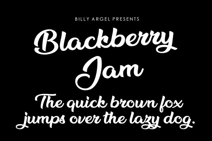 Blackberry Jam Font poster