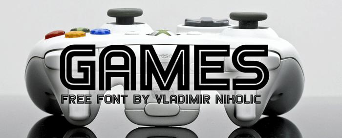 Games Font poster