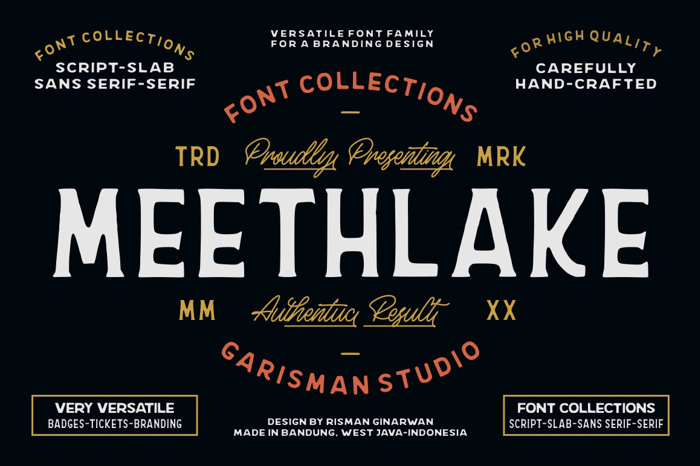 Meethlake Two Font poster