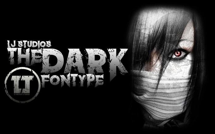 the dark Font poster