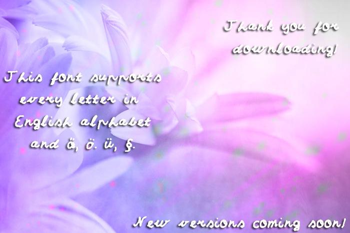 Sumirca_s_Handwriting Font poster