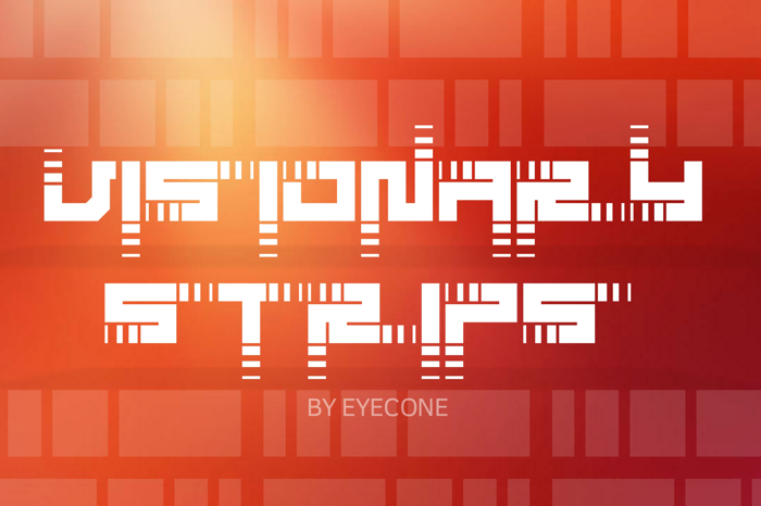 Visionary Strips Font