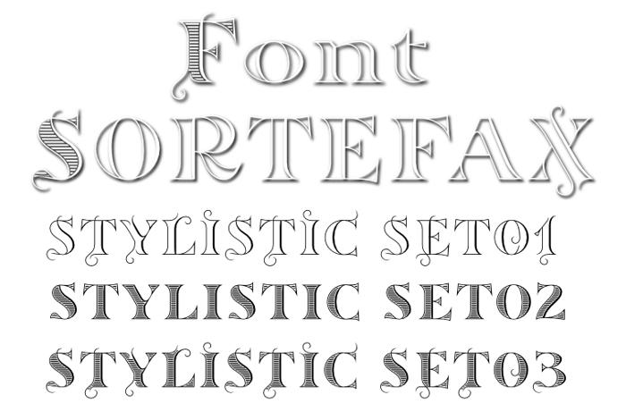 Sortefax Font poster