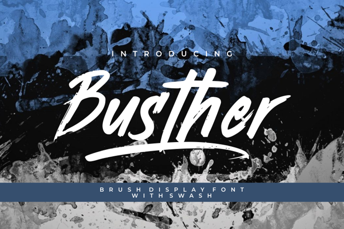 Busther Font poster