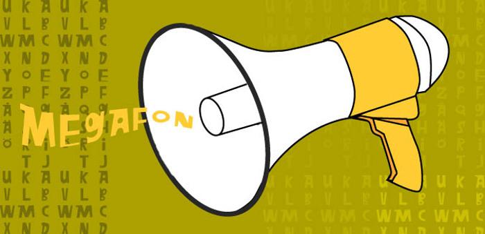 Megafon Font poster