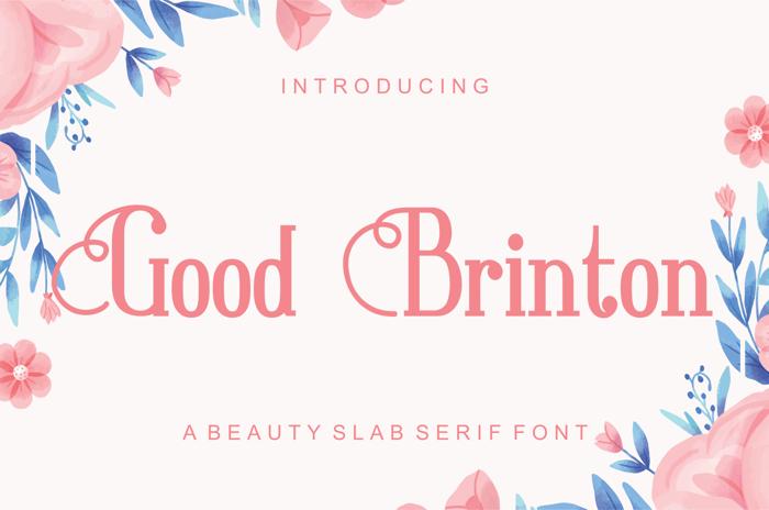 Good Brinton Font poster