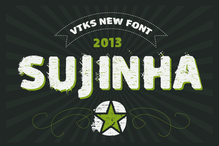 vtks sujinha Font poster