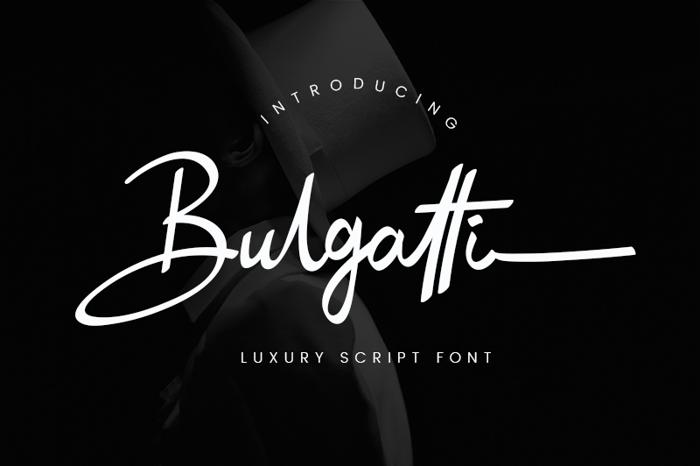 Bulgatti Font poster
