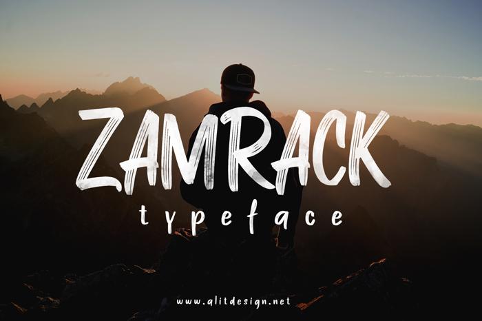 ZAMRACK Font poster