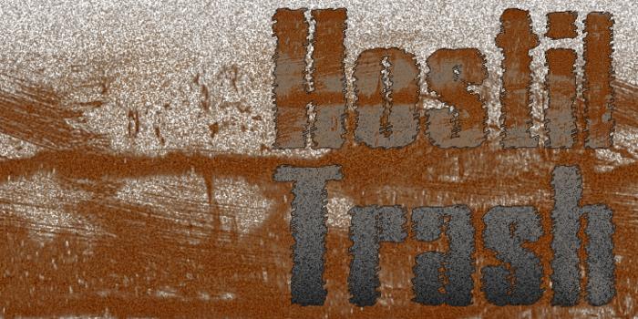 Hostil Trash Font poster