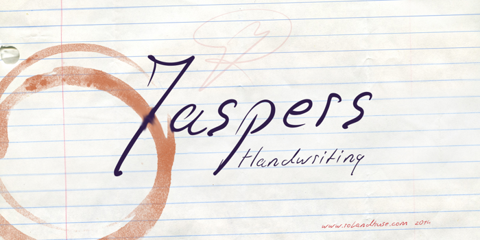Jaspers Handwriting Font poster